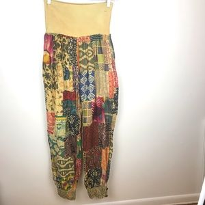 Gypsy Vintage patch Handmade pants Free size